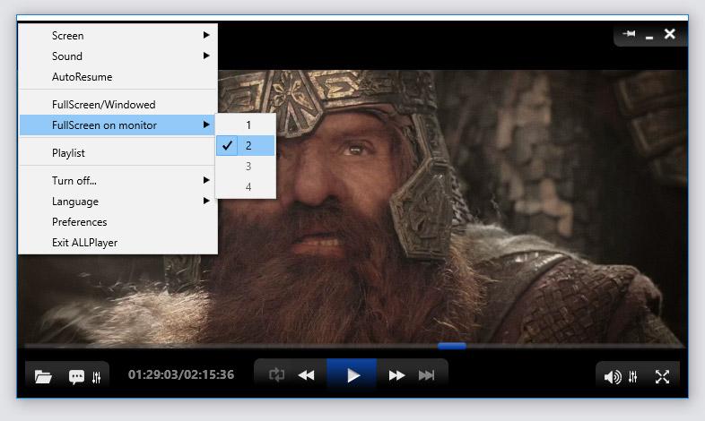ALLPlayer wyświetlanie na telewizorze_video_player_allplayer.org