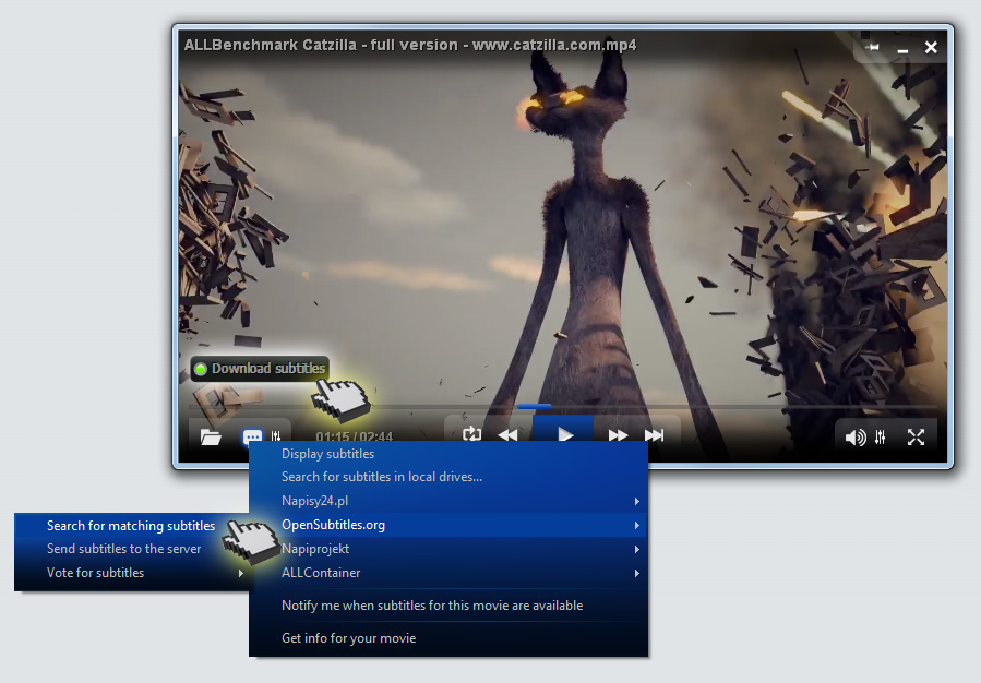 ALLPlayer - auto download subtitles_video_player_allplayer.org