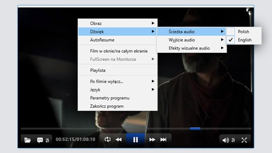 ALLPlayer ustawienia audio